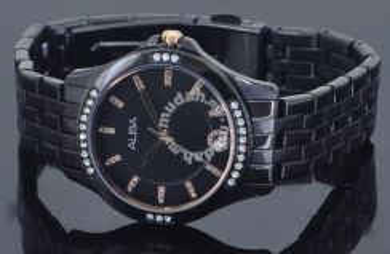 Alba Ladies Swarovski Crystal Watch VJ32-X250BRGPV