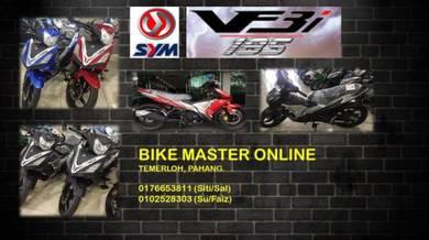 SYM VF3i 185 (RED/BLUE) BEST DEP & READY STOCK
