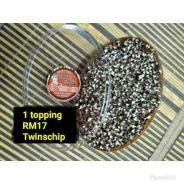 Bubble rice choc topping twin chip