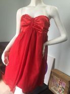 R.J Story Red Satin Silky Dress