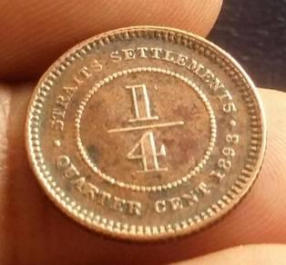 Straits Settlements 1/4 Cent Tahun 1898 (Item C)