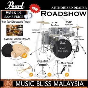 Pearl Roadshow RS525SC/C 5pc Drum Set Charcoal