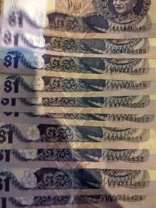 RM 1 lama 10keping dgn tandatangan gabenor azif