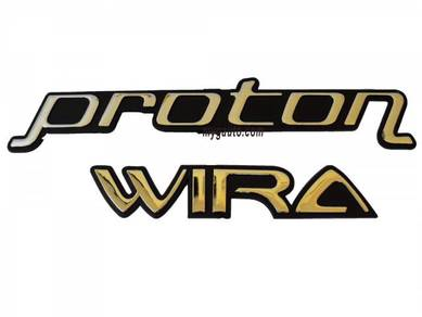 Emblem Tulisan Proton WIRA - BARU