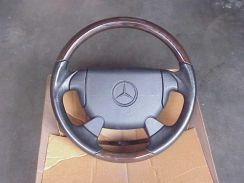 Mercedes AMG Leather and Wood Walnut Steering
