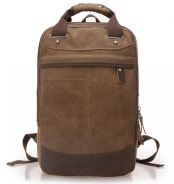 Retro Square Dual-Use Travel Bag Backpack (Coffee)