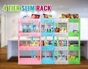 4 tier slim rack