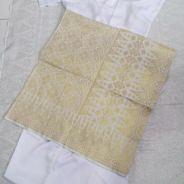 Sampin Nikahh songket Off white gold