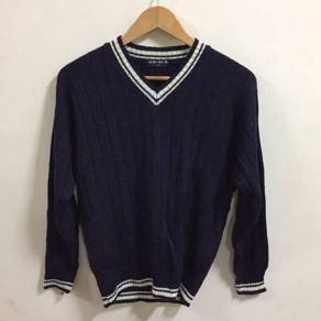 Uniqlo Wool Jumper Size S Blue Black