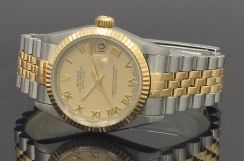 Rolex 68273 Gold Dial With Bold Roman Mint conditi