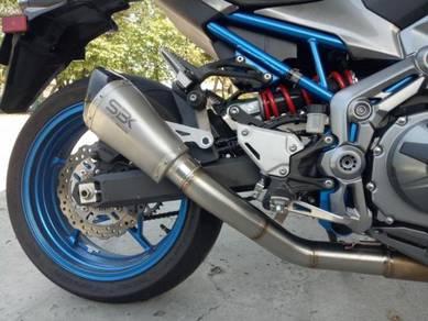 Ekzos Kawasaki Z900 SBK Shorty exhaust decat