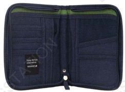 BAGSTATIONZ Travel Zip-Up Passport Pouch (Navy Blu