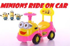 Minions Ride On Car Kids push toy car music&light