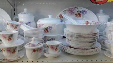 72 pcs opal glassware