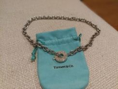 Tiffany & Co chain link necklace silver toggle