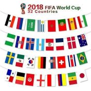 Flag world cup 32 country russia 2018 ETY