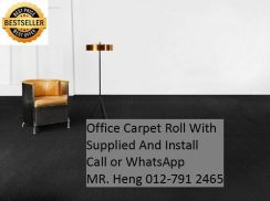 Classic Plain Design Carpet Roll with Install 432v