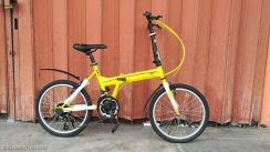 Vogue folding bike yellow color