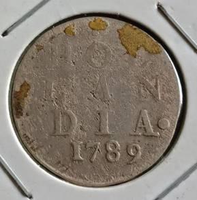 Duit Syiling Hol Lan Dia 2 Stuiver 1789