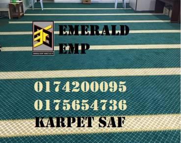 Supply install ummayad mosque karpet masjid utara
