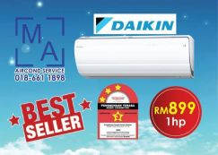 Serdang New Aircond Daikin 1.0HP HOT PRICE 899