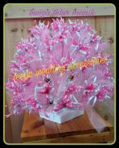Bunga pahar manik pink white