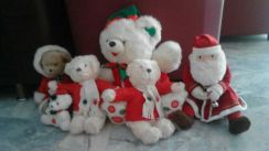 Mix soft toys for christmas