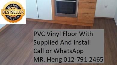 PVC Vinyl Floor - With Install ggt7u88