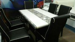 Dining set marble 1+6 #4091