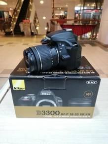 Nikon d3300 with af-p 18-55mm vr kit (sc 1k only)