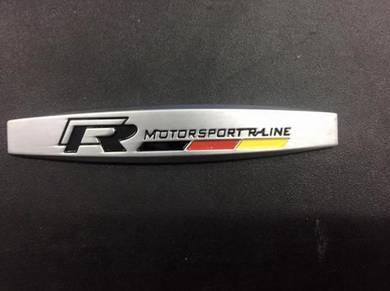 Volkswagen r line motorsport side fender emblem