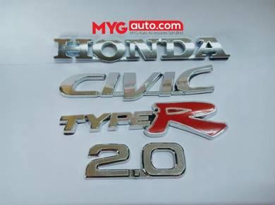 Emblem HONDA CIVIC TYPE R 2.0 - BARU