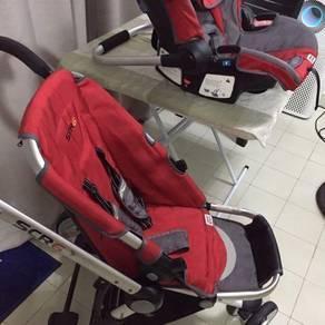 Stroller scr6 & car seat scr7