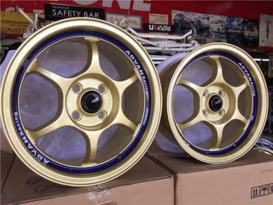 Sport Rim Advan Racing RG Ori Gold Design 15Inch