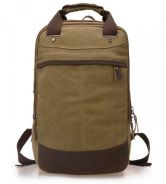 Retro Square Dual-Use Travel Bag Backpack (Khakis)