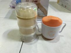 Brand new baby cup and milk dipenser