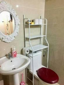 Bathroom Rack-black pink white(s4)