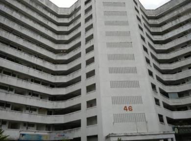 Greenlane height jalan besi block a 825sf 3-rooms well kept