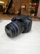 Sony a58 with 18-55mm lens kit (sc 5k only)