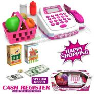Small Cash Register Electronic Calculator (pink)