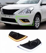 Almera fog lamp cover light bar drl led daylight 2