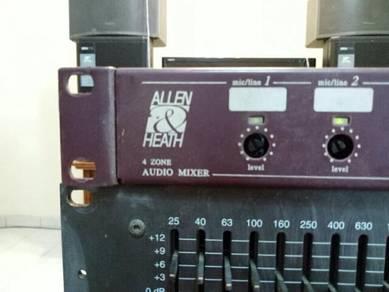4 Zone audio mixer