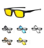 Sunglasses magnetic clip on 6 in 1 2256A B1