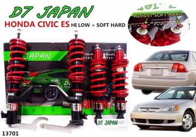 D7 JAPAN CIVIC ES 1.7 2.0 Hi Low Soft Hard S5A