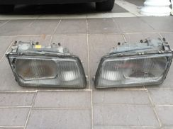 Mercedes W126 headlamps,mudflaps & dashboard cover