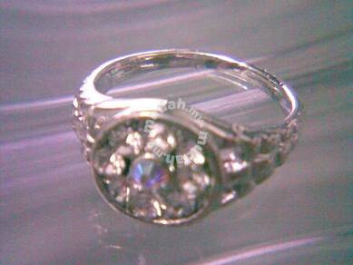 ABRWG-W021 Watch Shape White Gold Fill Ring Size 7