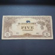 3pcs The Japanese Government 5 Dollars