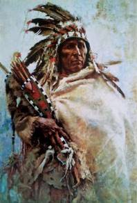 Poster Indians Painting Native American Indians MM