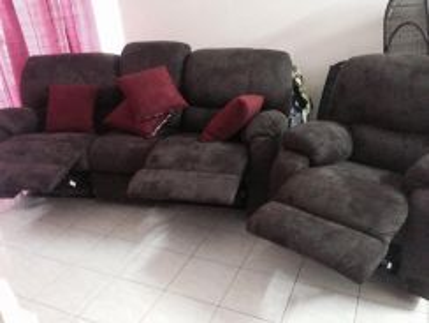 Sofa recliner kain baldu