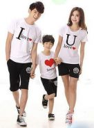 Korea tshirt family couple